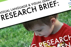 Research Brief cover with toddler